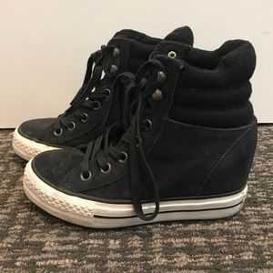 Converse High Top Wedge All Star Sneakers Suede